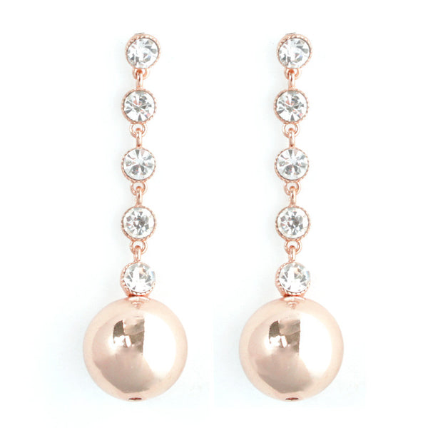 Round Ball Drop Post Earrings