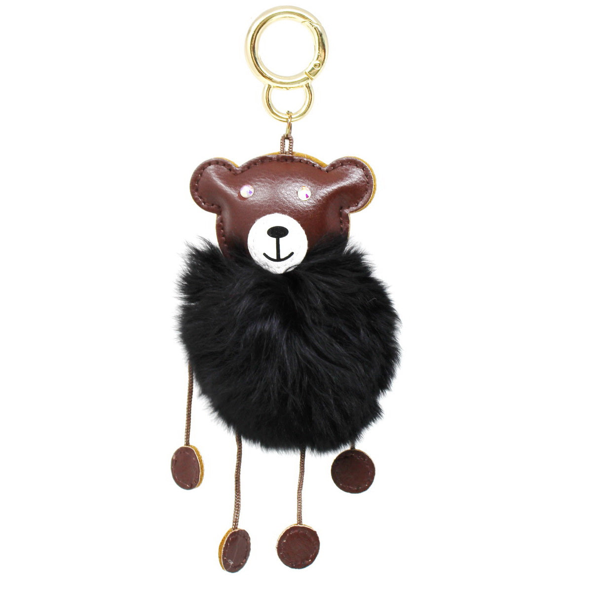 Rabbit Fur Bear Keychain