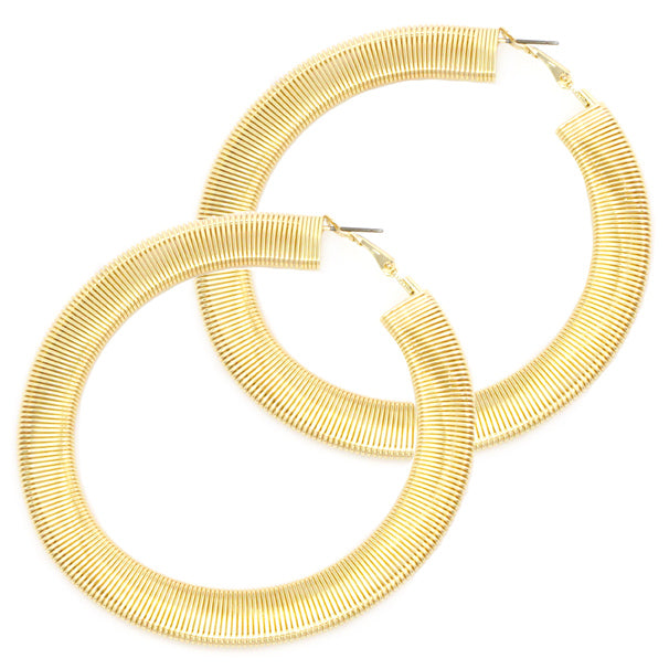 Oversized Crystal Hoop Earrings