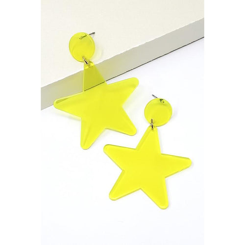 Star Acetate Drop Earrings