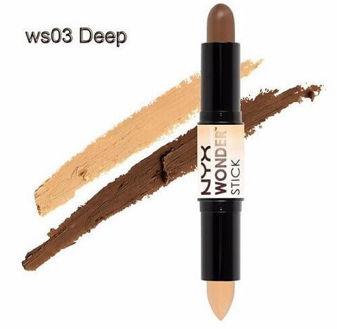 NYX Wonder Stick Highlight and Contour Stick Beauty Makeup Color - 03 Deep - The Accessory Nook