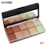 Makeup Concealer Contour Palette Primer Flawless 10 Color Scar Concealer - The Accessory Nook  - 1