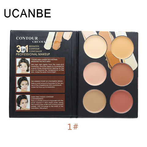 Ucanbe Cosmetics Cream Contour Highlighting Makeup Kit  Foundation Concealer Palette - The Accessory Nook  - 1