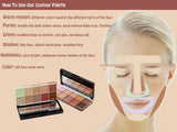 Makeup Concealer Contour Palette Primer Flawless 10 Color Scar Concealer - The Accessory Nook  - 3