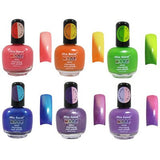 Mood Nail Color Temperature Changing Nail Polish 6pcTrendy Designer Set - The Accessory Nook  - 6