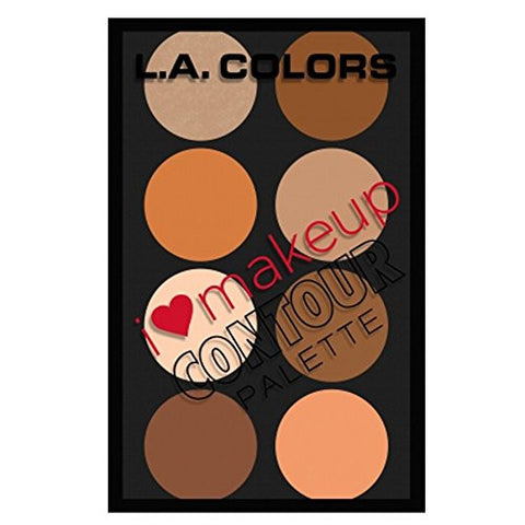L.A. Colors Highlighting I Heart Makeup Contour Medium Highliting Makeup Palette - The Accessory Nook