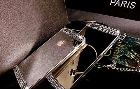 Mirror I Phone 6 case with Diamond Rhinestone and screen protector Included - The Accessory Nook  - 1