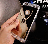Mirror I Phone 6 case with Diamond Rhinestone and screen protector Included - The Accessory Nook  - 4