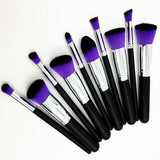 Purple Kabuki Makeup Cosmetic Contouring Blending Beauty Foundation Brush Set - The Accessory Nook  - 2