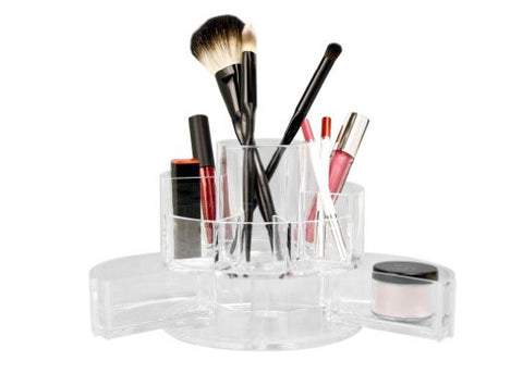 Expandable Acrylic Jewelry Makeup Vanity Storage Cosmetic Beauty Brush Organizer - The Accessory Nook  - 1