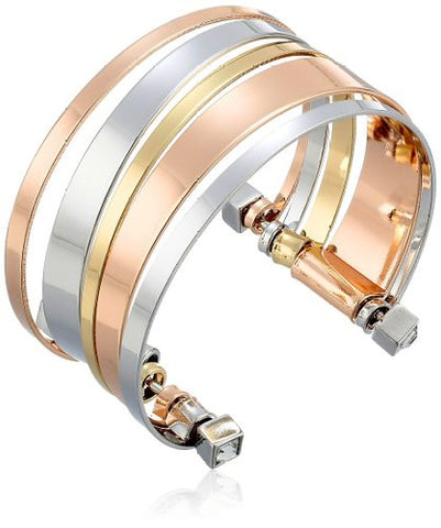 BCBGeneration Multi Color Cuff Fashion Bracelet BCBG Trendy Metal Jewlery - The Accessory Nook  - 1