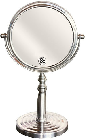 Two-Sided Swivel Vanity Make up 8x Magnification Mirror - The Accessory Nook  - 1