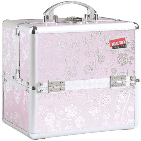 Professional Makeup Cosmetic Beauty Orgainizer Case Pink - The Accessory Nook  - 1