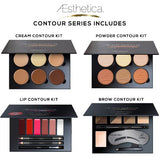 Aesthetica Cosmetics Contour Series - Contouring and Highlighting Library Set Makeup Beauty Lip Face Kit - The Accessory Nook  - 2