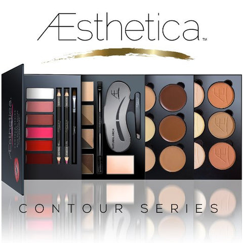 Aesthetica Cosmetics Contour Series - Contouring and Highlighting Library Set Makeup Beauty Lip Face Kit - The Accessory Nook