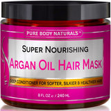 Argan Oil Hair Mask, 8 oz. Hair Treatment Therapy, Deep Conditioner for Damaged & Dry Hair - The Accessory Nook  - 2