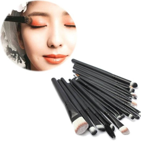 20Pcs Professional Cosmetic Makeup Application Powder Eyeshadow Face Contouring Brush Set - The Accessory Nook  - 1