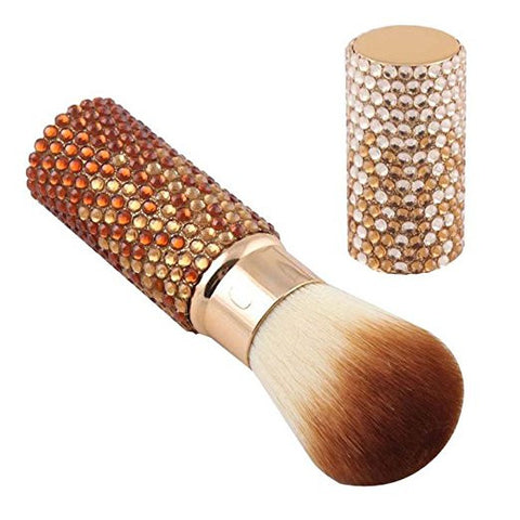 Bling Bling Rhinestone Retractable Blush Powder Makeup Cosmetic Brush - The Accessory Nook  - 2