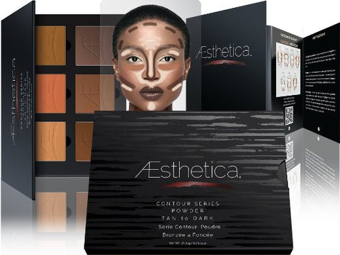 Tan to Dark Aesthetica Powder Contour Kit Pallette & Highlighting Beauty Makeup - The Accessory Nook  - 1