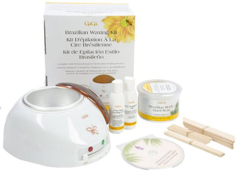 Complete hair removal system Brazilian Waxing Kit, 14 Ounce with Wax Warmer - The Accessory Nook  - 1