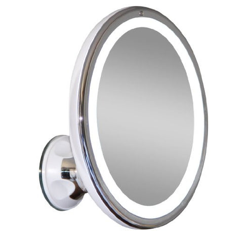 LED Makeup Mirror Adjustable 7x Magnification Lighted Makeup VanityPowerful Rotating, Locking Suction - The Accessory Nook  - 1