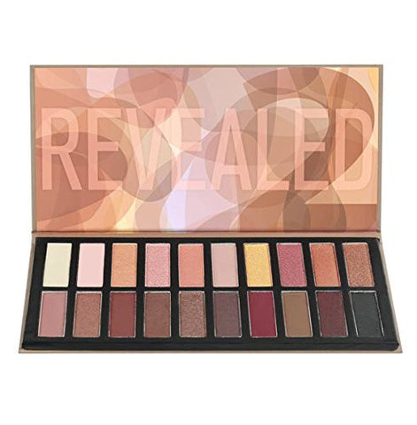 Revealed 2 Palette, 4.80 Ounce Matte and Shimmer Trendy Eyeshadow Makeup Cosmetic Palette - The Accessory Nook  - 1