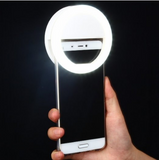 Clip on Selfie O Ring Light for Smart Phone in the Color White Perfect Selfie Accessory - The Accessory Nook  - 1