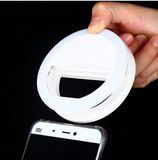Clip on Selfie O Ring Light for Smart Phone in the Color White Perfect Selfie Accessory - The Accessory Nook  - 4