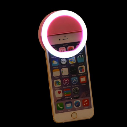 Clip on Cell Phone Selfie O Ring Light for Smart Phone IPhone in the Color Pink - The Accessory Nook  - 1