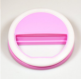 Clip on Cell Phone Selfie O Ring Light for Smart Phone IPhone in the Color Pink - The Accessory Nook  - 2