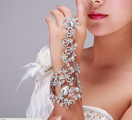 Rhinestone Arm Wrap Wedding Prom Bridal Fashion Bling Formal Bracelet - The Accessory Nook  - 1