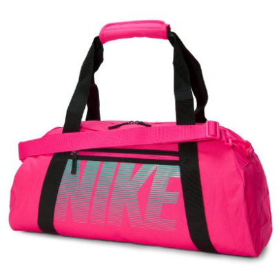 Hott Pink Nike Gym Club Fashion Workout Duffel Wet Dry Padded Storage Bag - The Accessory Nook