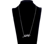 Ashley Name Plate Silver Pendant Chic Ladies Trendy Necklace Stainless Steel - The Accessory Nook  - 2