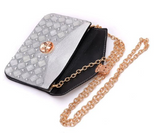 Gray Silver Envelope Clutch Epic Trendy Handbag with Shoulder Strap - The Accessory Nook  - 7