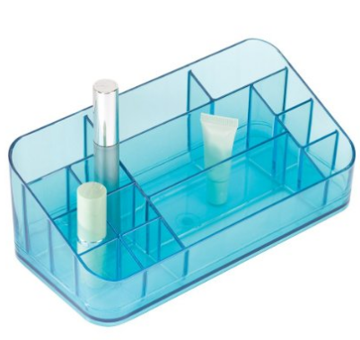 Vanity Makeup Cosmetic Beauty Storage Compact Solutions Organizer in - Aqua - The Accessory Nook  - 1