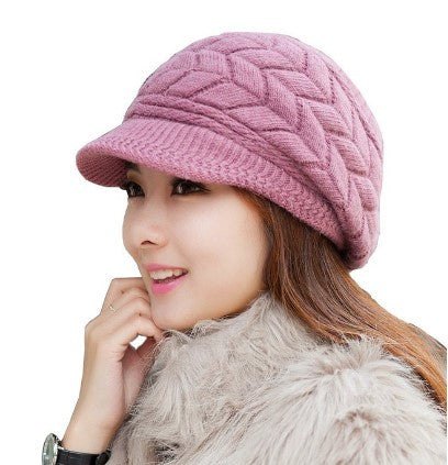 Womens Winter Warm Wool Snow Ski Fashion Trendy Hat - The Accessory Nook  - 1