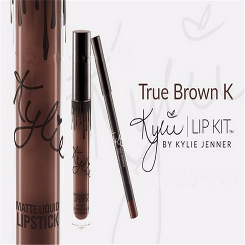 Hot Selling! New Makeup Gloss Lipstick Lip Kit Set by Kylie Jenner Color True Brown K - The Accessory Nook