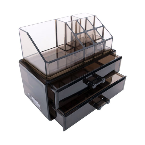 Black Acrylic Makeup Cosmetic Drawer Organizer or Jewelry Box Display Storage Case - The Accessory Nook  - 1