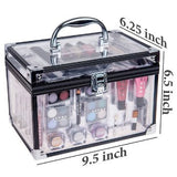 Professional Carry All Makeup Kit EyeshadowPedicure Manicure Cosmetic Case - The Accessory Nook  - 2