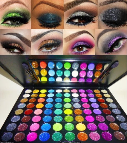 88 Color Glitter Cream Pro Eye Shadow Makeup Cosmetic Beauty Eyeshadow Palette - The Accessory Nook