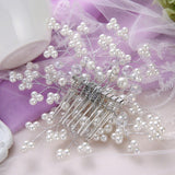 Pearl and Crystal Bridal Wedding Hair Accessory Haircomb Headpiece - The Accessory Nook  - 2
