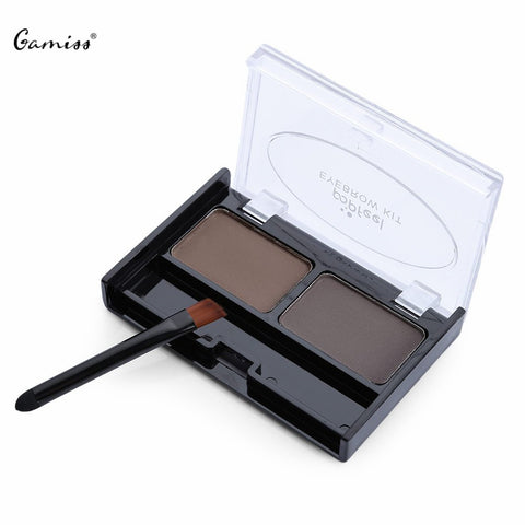 Eyebrow Kit Makeup Pallete Powder + Wax Palette + Brush Application Set - The Accessory Nook  - 1