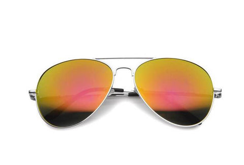 Premium Full Mirrored Aviator Sunglasses w/ Flash Mirror Lens Sun Eye Fashion - The Accessory Nook