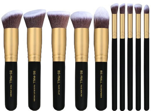 10 PC Cosmetic Professional Makeup Contouring Highlighting Kabuki Quality Brush Set - The Accessory Nook  - 1