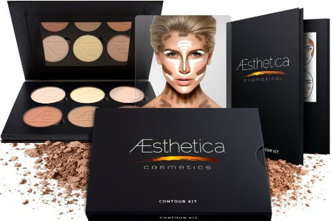 Aesthetica Contour & Highlighting Foundation Palette Contouring Makeup Kit Easy to Follow, Step-by-Step Instructions Beauty - The Accessory Nook  - 1