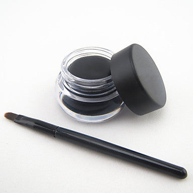 Waterproof Natural Eyeliner - Black with Brush Set - The Accessory Nook  - 1