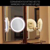 LED Makeup Mirror Adjustable 7x Magnification Lighted Makeup VanityPowerful Rotating, Locking Suction - The Accessory Nook  - 2