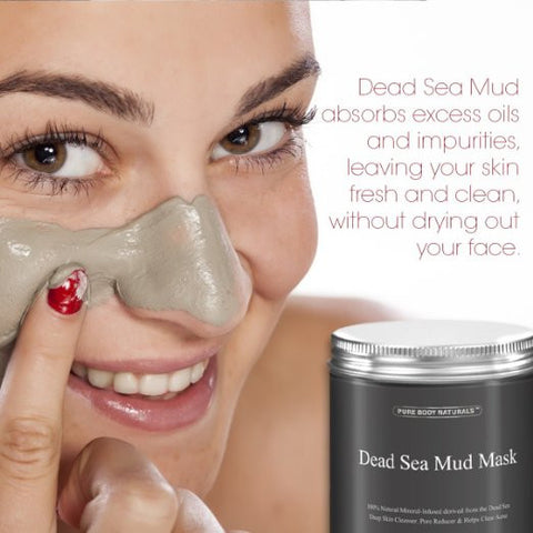Dead Sea Mud Mask Best for Facial Beauty Skin Treatment Minimizes Pores Reduces Wrinkles - The Accessory Nook  - 1