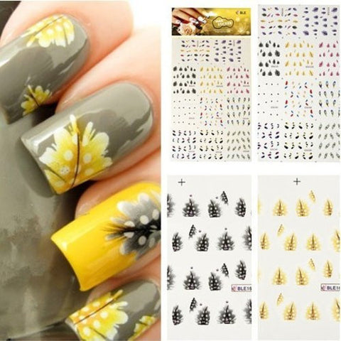 Nail Art Tips Professional Nail Decals Accessory Easy to Use Fashion Design Detail - The Accessory Nook  - 1