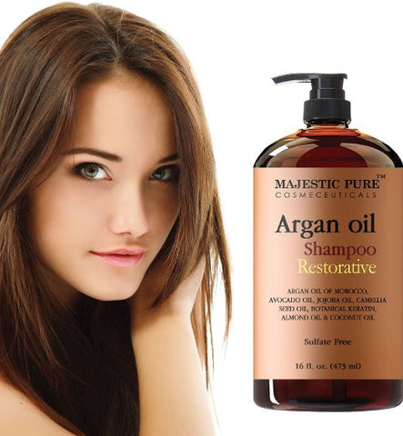 Argan Oil Shampoo With Vitamin Enriched Hair Care Restoration Daily Use, Sulfate Free - The Accessory Nook  - 1
